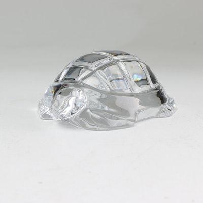 Baccarat Crystal Turtle Figurine