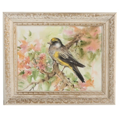 Yellow-rumped Warbler Watercolor Painting