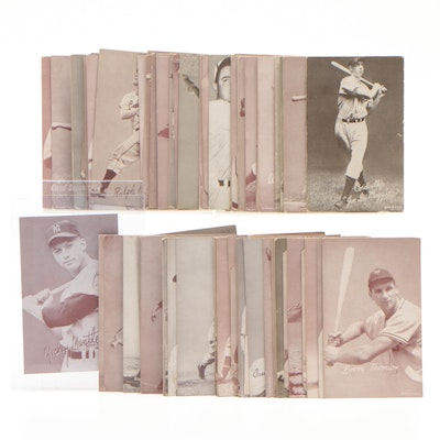 Exhibit Photo Baseball Cards Including Mickey Mantle, Mid-Century