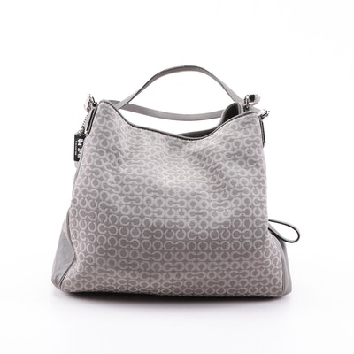 Coach Madison Op Art Canvas and Leather Shoulder Bag