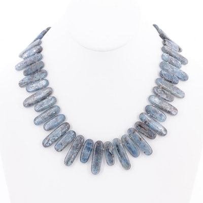 Sterling Silver Labradorite Beaded Necklace