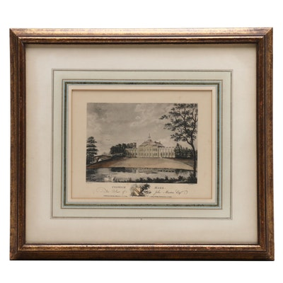 """Collotype After W. L. J. Walker Etching """"Colwick Hall"""""""