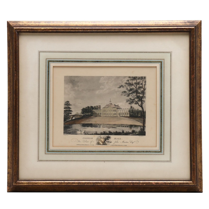 "Collotype After W. L. J. Walker Etching ""Colwick Hall"""