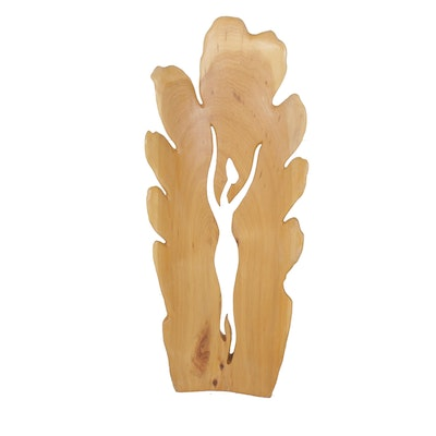 """Jerry Ward Maple Wood Carving """"Straight to Paradise"""""""