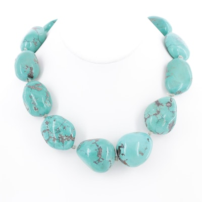 Sterling Silver Turquoise Knotted Necklace