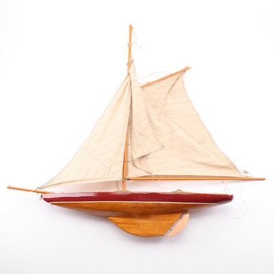 Wood and Cloth Model Sail Boat
