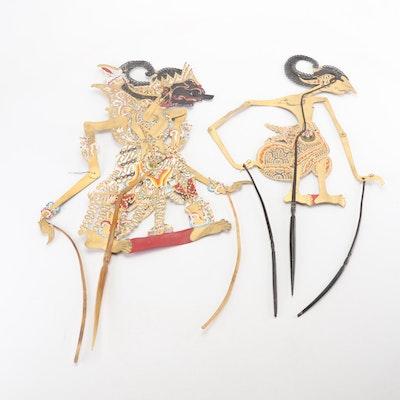 Vintage Indonesian Wayang Shadow Puppets