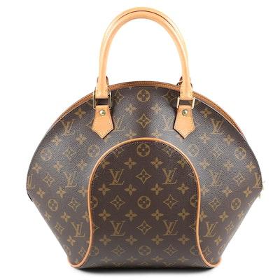 Louis Vuitton Paris Ellipse MM Bag in Monogram Canvas and Vachetta Leather