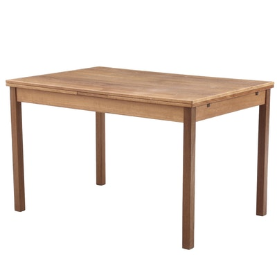 Danish Modern Teak Draw-Leaf Table, Circa 1980s