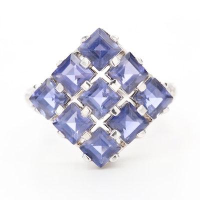 10K White Gold Iolite Ring