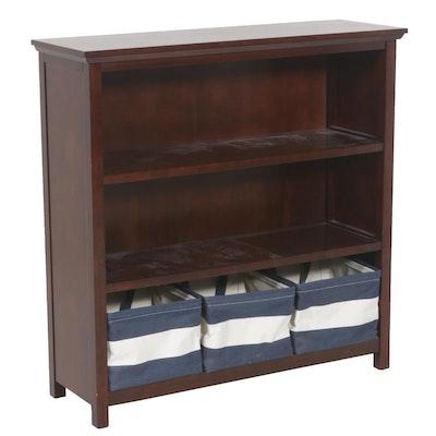 Contemporary Mahogany Finished Bookcase