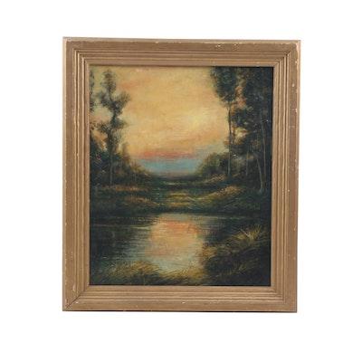 20th Century Landscape Oil Painting