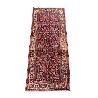 Hand-Knotted Persian Hamadan Herati Wool Rug
