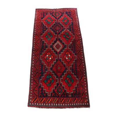 Hand-Knotted Persian Afshar Wool Long Rug