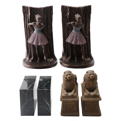 Bookends including Composite New York Public Library Lions