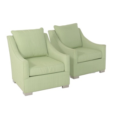Pair of Century Upholstered Patio Chairs