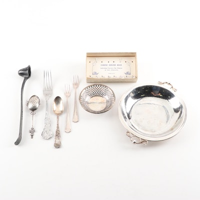 Towle and Other Silver Plate Serving Utensils and Serveware