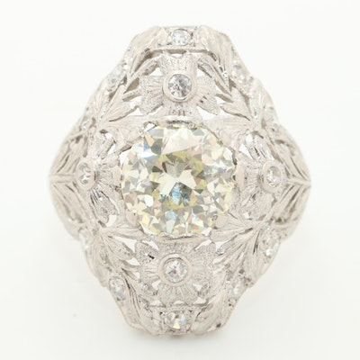 Edwardian Platinum 2.21 CTW Diamond Ring