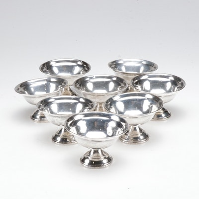 American Sterling Silver Sherbet Cups, Mid-Century