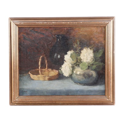 E.M.H Still Life Oil Painting