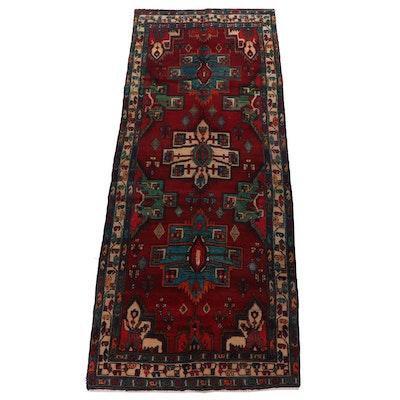 Hand-Knotted Lambalo Kazak Wool Carpet Runner