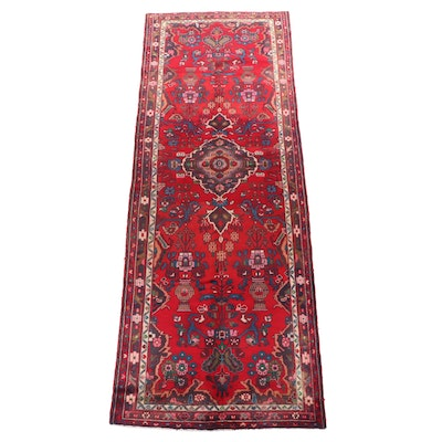 Hand-Knotted Persian Darjezine Wool Carpet Runner