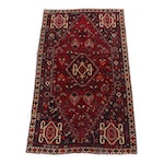 Hand-Knotted Persian Qashqai Shiraz Wool Rug