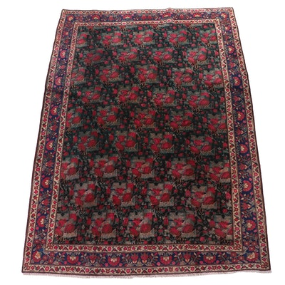 "Hand-Knotted Persian Khamseh ""Rose"" Wool Rug"