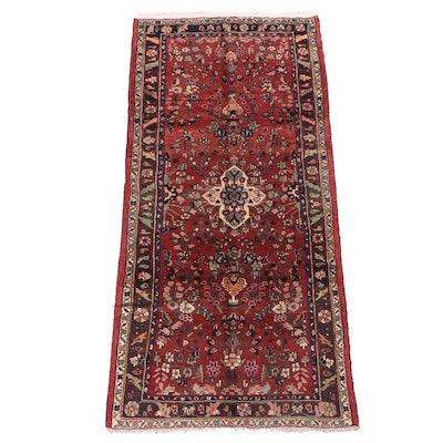 Hand-Knotted Persian Zanjan Wool Vase Rug