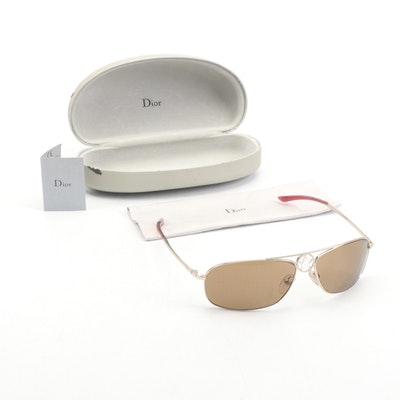 "Christian Dior ""Dior Hippy 2"" Italian Browline Sunglasses with Case"