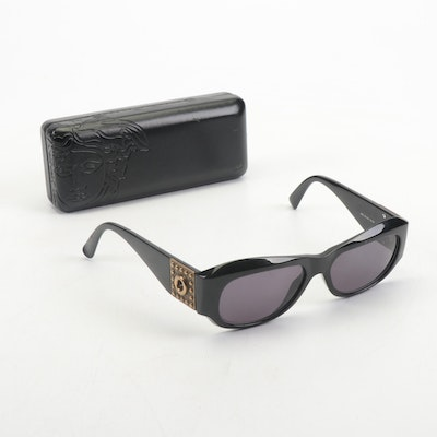 Gianni Versace Model 395 Italian Sunglasses in Black with Case