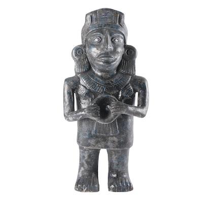 Mayan Style Blackware Figurine