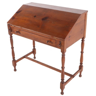 American Pine Slant Top Desk, Early 20th Century