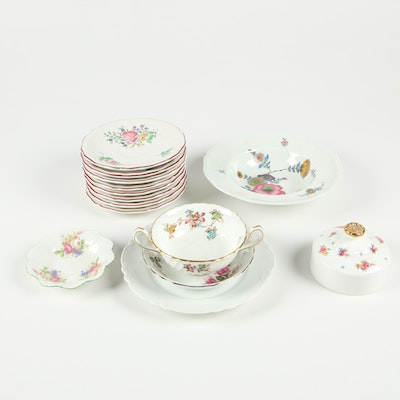 """Peerless Salad Plate, Lunéville """"Old Strasbourg"""" Saucers, and More"""