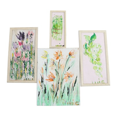 Floral Abstract Floral Oil Paintings