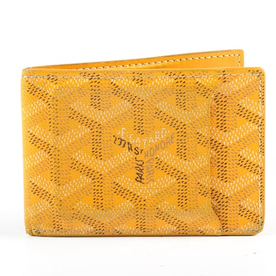 Goyard Porte Carte Insert Victoire Slot Wallet in Yellow