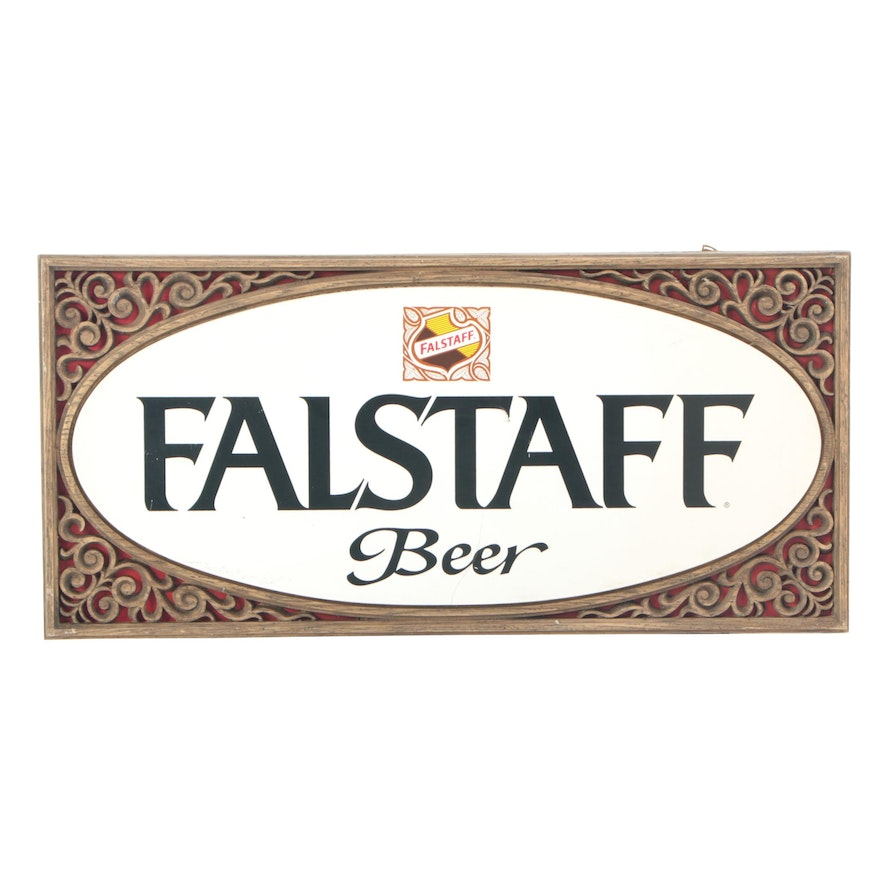 Falstaff Beer Advertising Sign, Late 20th Century