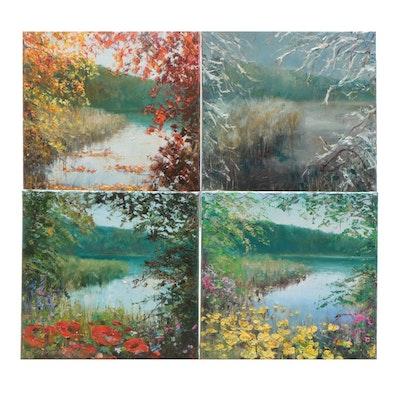 "Aleksander Garncarek Landscape Oil Paintings of ""The Four Seasons"""