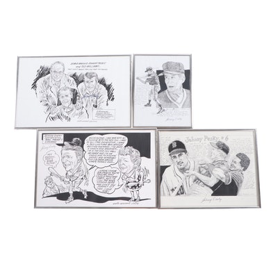 Lithographs after Eddie Germano Comics and Caricatures
