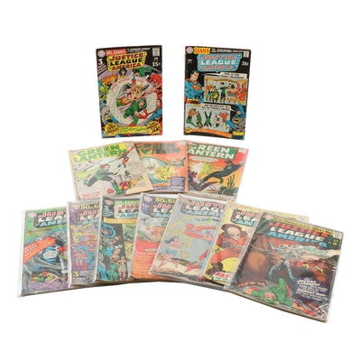 """""""Justice League of America"""" and """"Green Lantern"""" Silver Age Comic Books"""