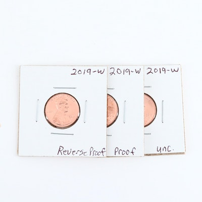 Three Hard to Find 2019 West Point Special Edition Lincoln Cents