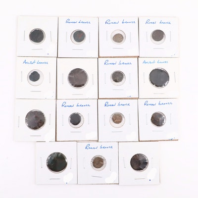 Fifteen Ancient Roman Imperial Bronze AE Coins, ca. 250-400 A.D.