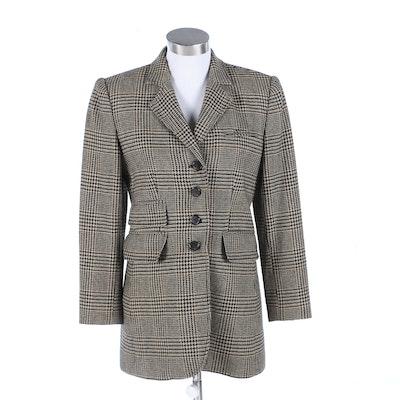 Lauren Ralph Lauren Lambswool Houndstooth Check Jacket