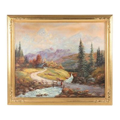 T. Grilli Landscape Oil Painting