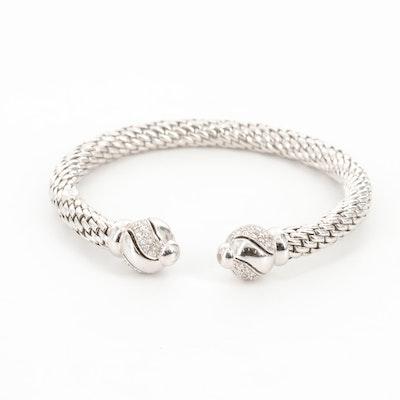 Fope 18K White Gold Diamond Cuff Bracelet
