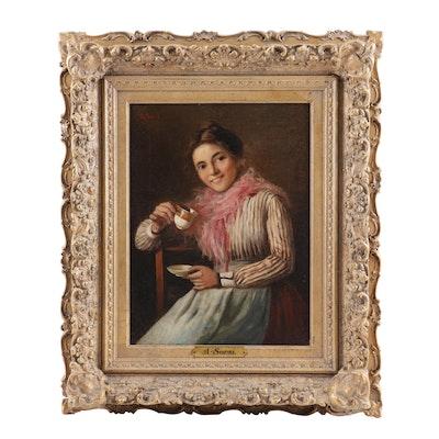 A. Sorsi Portrait Oil Painting