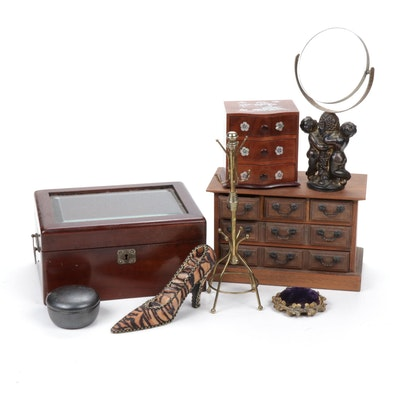 Vanity Accessories and Jewelry Boxes