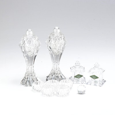 """Shannon """"Pagoda"""" Cut Crystal and other Salt & Pepper Shakers"""