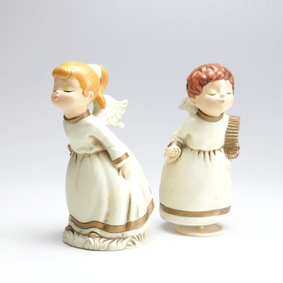 Vintage Kissing Angel Christmas Decorations