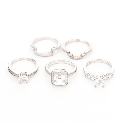 Sterling Silver Cubic Zirconia Rings
